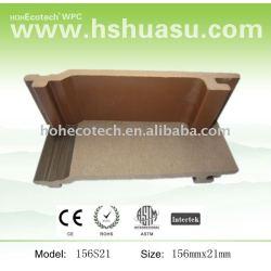Plástico de madera wpc cubiertas al aire libre del piso/panel de la pared
