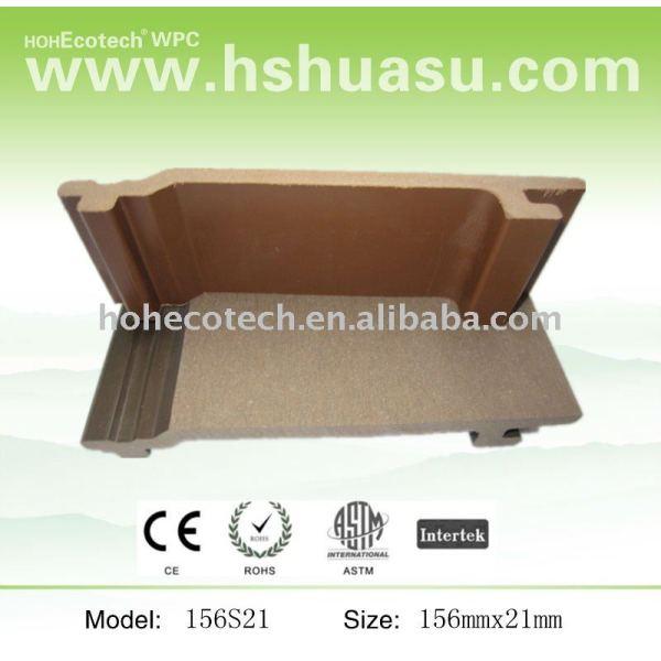 Wpc outdoor decking holz kunststoff boden/wandpaneel