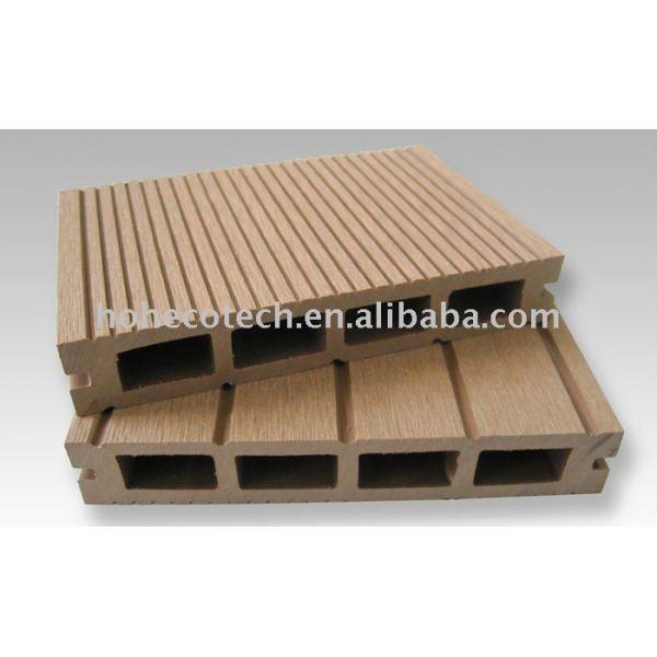 sensación natural suelo de madera con los materiales de wpc