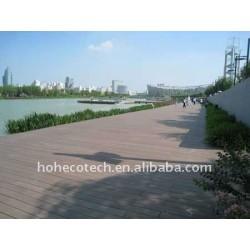 Das Qualität HDPE, das im Freien hölzerne Möbel ausbreitet, führte Bodenbelag im Freien WPC hölzernen zusammengesetzten Plastikdecking/Bodenbelag aus