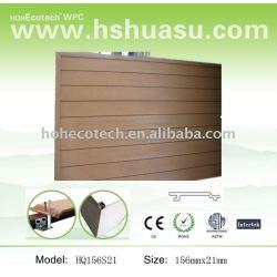 al aire libre del wpc construcción de materiales de revestimiento de la pared
