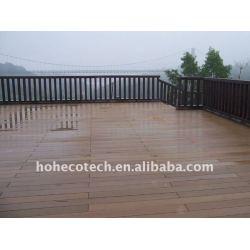 BODENBELAG-Vinylbodenbelag-PVC-lamellenförmig angeordneter Bodenbelag WPC hölzerner zusammengesetzter Plastikdecking/Bodenbelag