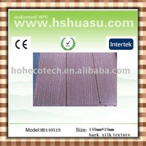 Le plancher composé extérieur en bois plein/a cannelé le plancher de terrasse de wpc (CE ROHS ASTM ISO9001)