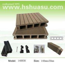 ce aprovado plástico compósito de madeira wpc decking ao ar livre