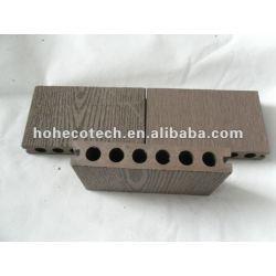 Garantia de qualidade hoh ecotech 138x23 redondo buraco impermeável wpc wood plastic composite decking/telha decking de wpc