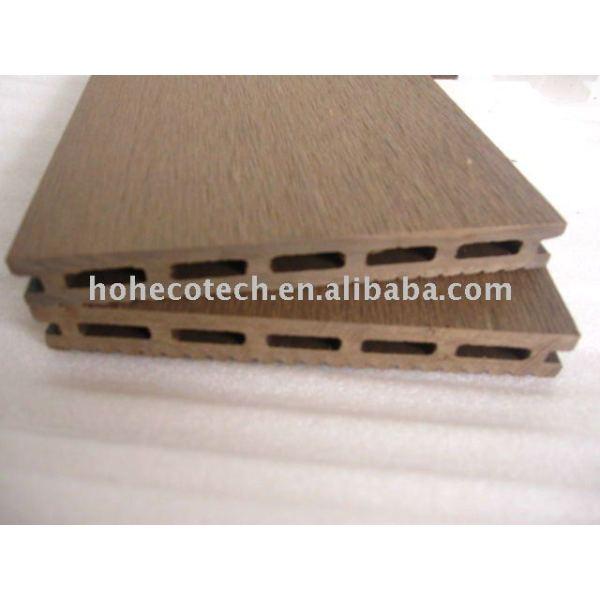 sensación natural de madera decking compuesto plástico