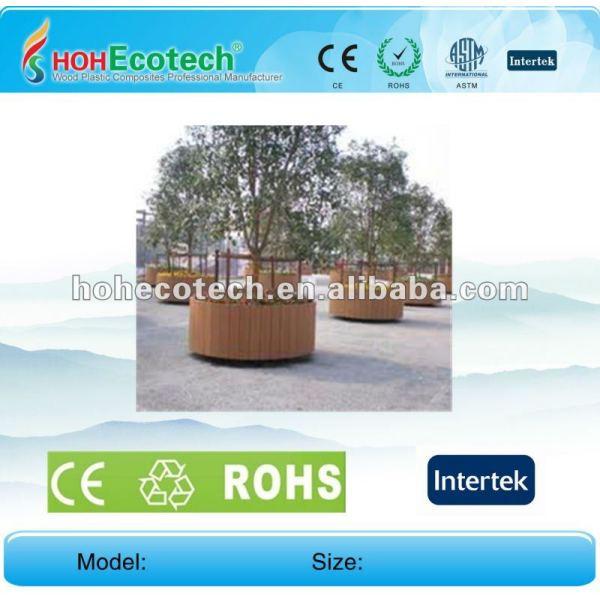 100% reciclado wpc de alta calidad de jardín de macetas de flores ( wpc suelo/wpc panel de pared/wpc productos de ocio )