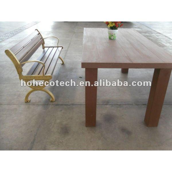 Umweltfreundlicher guter Entwurf wpc Gartenschreibtisch und -stuhl