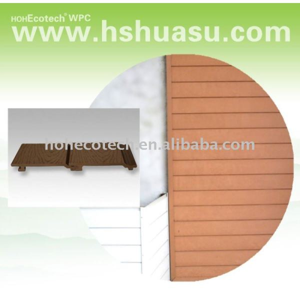 Decking del wpc piso compuesto de piso/compuesto plástico de madera revestimiento de la pared