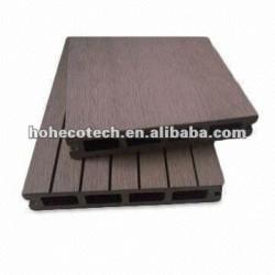 compuesto plástico de madera suelo hueco wpc decking exterior