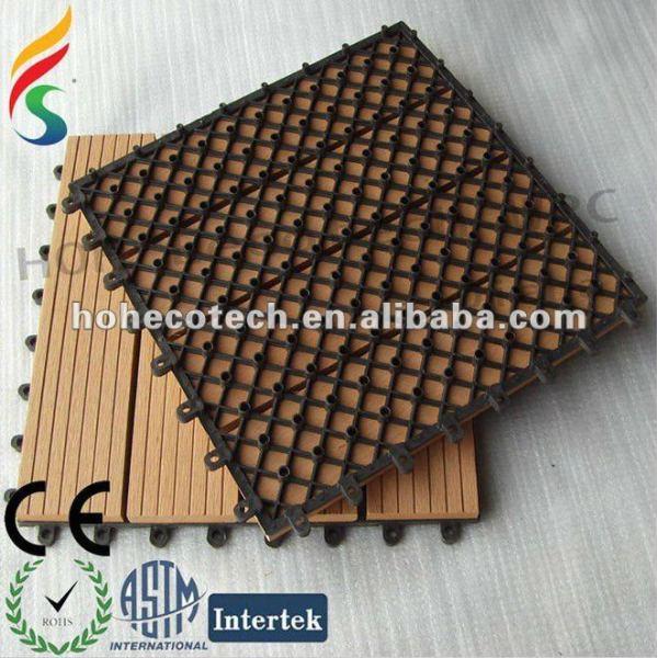 Wasserdichter WPC Holzplastikzusammengesetzter DIY Saunabodenbelag/Außenfußbodenfliese