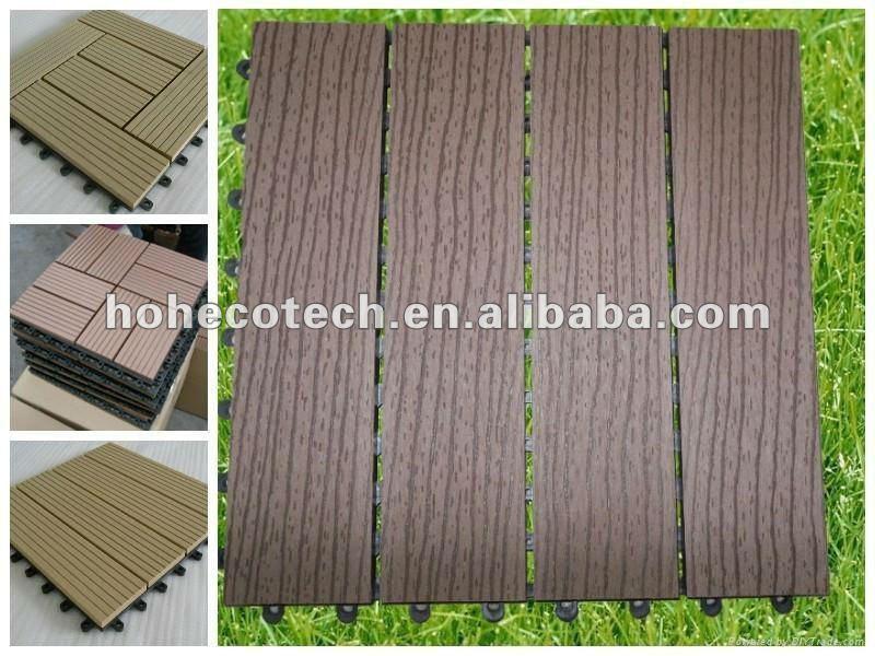 haltbare blockierenWPC Decking-/Fußbodenfliesen der 300mmx300mm Größe