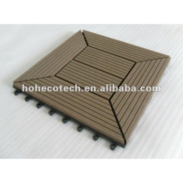 De enclavamiento wpc decking azulejos wpc títulos de bricolaje de madera - materiales compuestos de plástico suelo junta