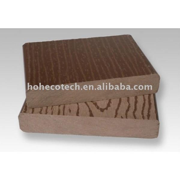 plástico de madera wpc decking compuesto suelo al aire libre