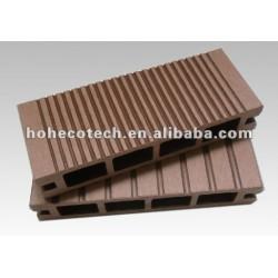 Crack durable y resistente a la pudrición, anti - uv hueco wpc decking exterior