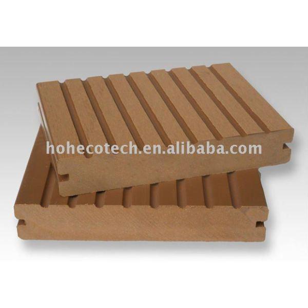 plancher extérieur de decking composé en plastique en bois de wpc