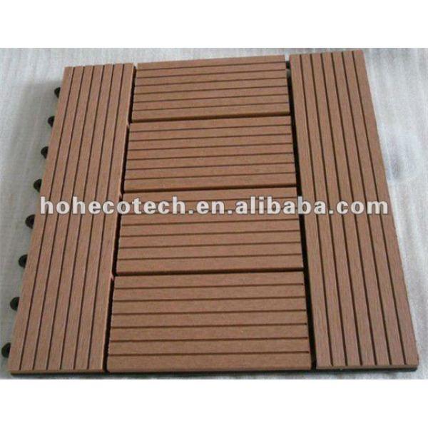 La bienvenida a los modelos de enclavamiento wpc decking azulejos wpc títulos de bricolaje de madera - materiales compuestos de plástico suelo junta