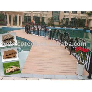 Al aire libre del wpc suelo entarimado/sólido piso/compuesto plástico de madera