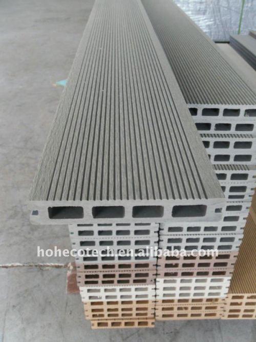 le decking composé en plastique en bois de qualité de 150x25MM du HDPE WPC de wpc creux de Decking couvre de tuiles le decking de vinyle