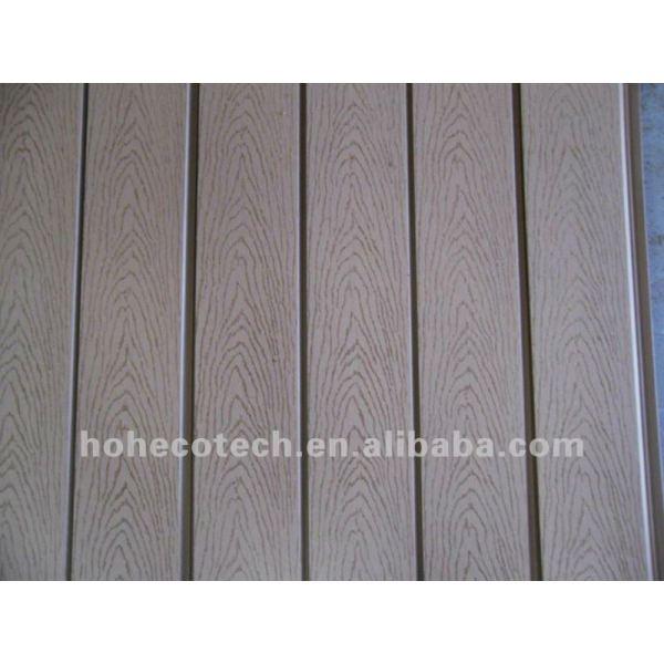 panneau composé en plastique en bois de mur de wpc