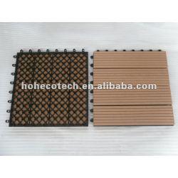 Dispositivo de seguridad de bricolaje cerámica interior/externa 300x300mm suelo wpc azulejo de cuarto de baño de madera de plástico compuesto azulejo