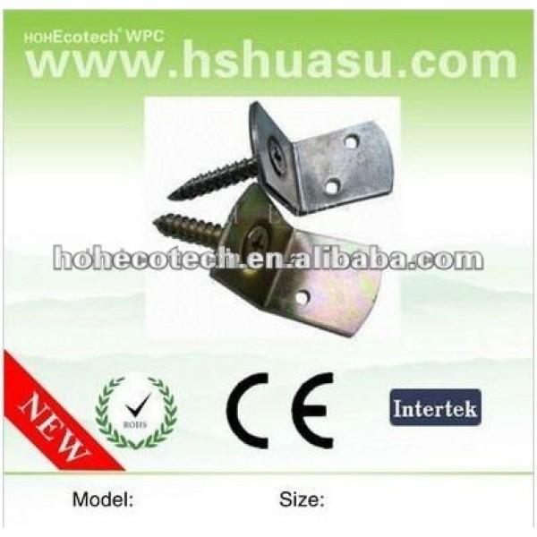 Les accessoires de decking de WPC, acier inoxydable composé coupe pour le decking