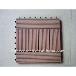 Fashional decking diy/placa de revestimento de madeira e compósitos de plástico diy azulejo pisos de madeira