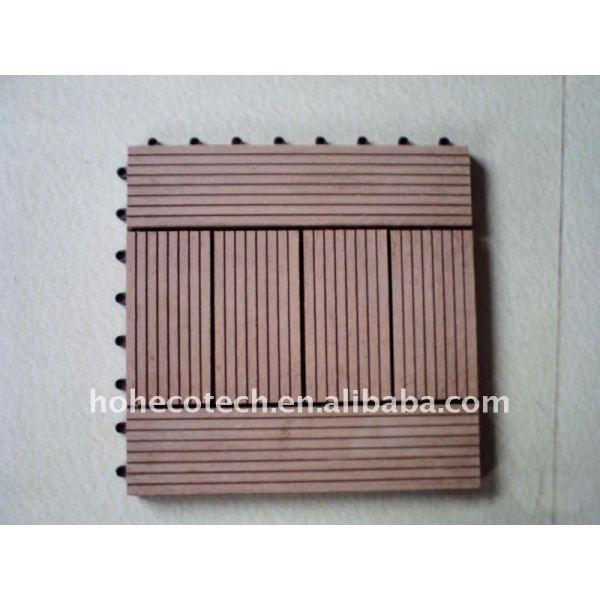 Fashional bricolaje decking/suelo de madera junta de materiales compuestos de plástico bricolaje azulejos de suelo de madera