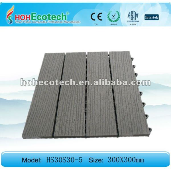 (CER, ROHS, ASTM, ISO9001, ISO14001, Intertek) WPC sanding&embossing Oberflächenim freienbodenbelagfliesen/diy Fliesen