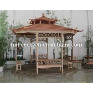 Produits de loisirs de HUASU WPC, maison en bois, pot de fleur de wpc, gazebo