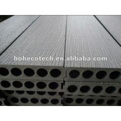 Nuevo modelo 200x50mm madera decking compuesto plástico/suelo junta cubierta de teja wpc madera