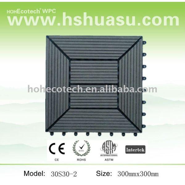 de enclavamiento wpc decking azulejos 300x300mm