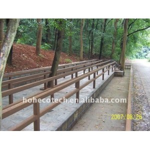 Dimensional stability wpc road railing waterproof wpc Railing wpc fencing /fence wpc deck railing