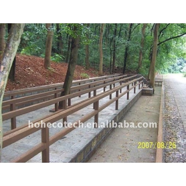 Stabilità dimensionale strada wpc ringhiera impermeabile wpc ringhiera scherma wpc/recinzione wpc ringhiera ponte