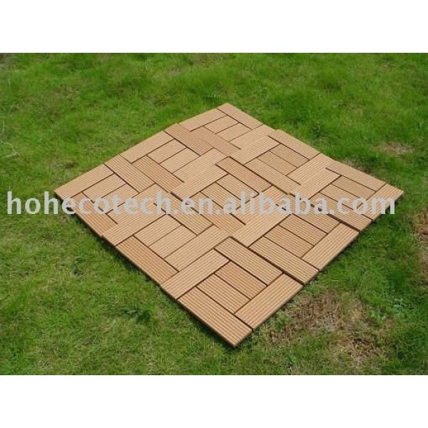 Ecowood wpc bordo de cuarto de baño/decking azulejos de jardín para/balcón/patio trasero/patio