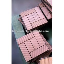 Eco - ambiente de plástico de madera decking compuesto/azulejo de piso