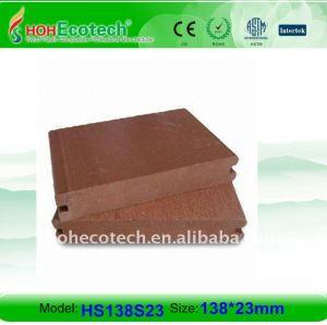 nouveau MATÉRIEL ! Le decking/plancher composés en plastique en bois antidérapant, Portent-Resistan le plancher en bois de décoration extérieure de WPC