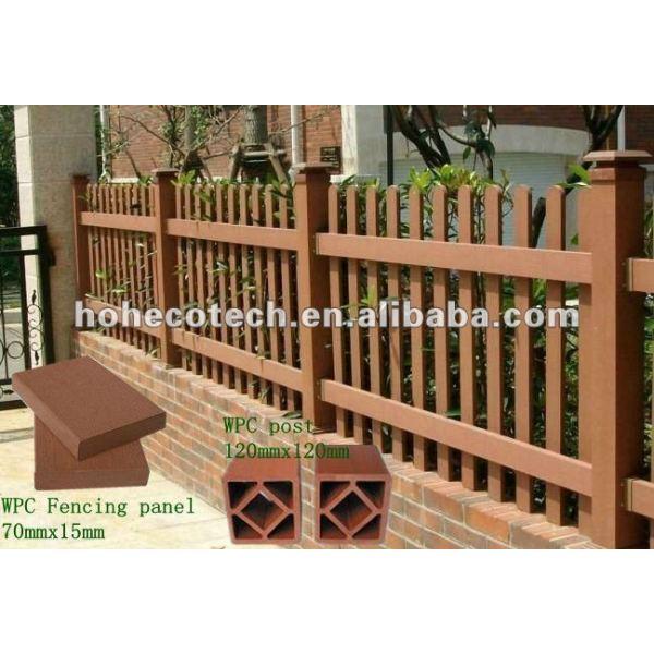 Pasamano plástico de madera del compostie/perfiles del cercado
