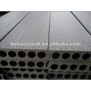 Realzando la superficie nuevo modelo 200x50mm madera decking compuesto plástico/suelo junta cubierta de teja wpc madera