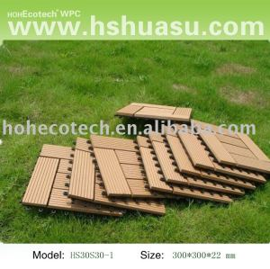 tuile extérieure en bois en plastique de decking/tuile/plancher diy