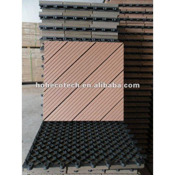 el diseño del pozo 300x300mm de enclavamiento wpc decking azulejos wpc bricolaje decking azulejos