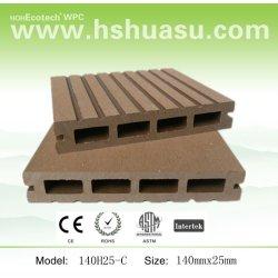 Respectueux de l'environnement de jardin wpc plancher composite