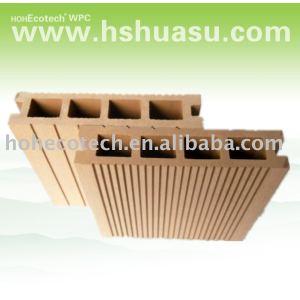 Baratos de tarimas de madera, piso de plástico, decking del wpc piso compuesto de piso