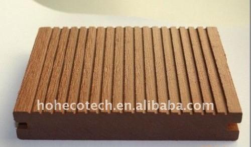 Decking composé en plastique en bois plein du plancher WPC/decking de plancher