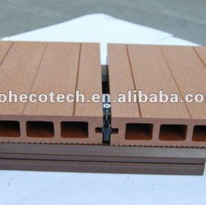 Fente durable et putréfaction résistantes, decking creux anti-UV de wpc