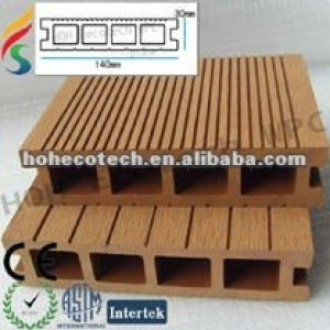 le decking de wpc/a qualifié la plate-forme composée en plastique en bois/plancher extérieur