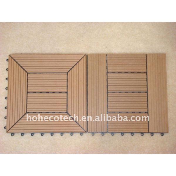 el precio de fábrica de azulejos wpc decking del wpc wpc suelo materiales decorativos