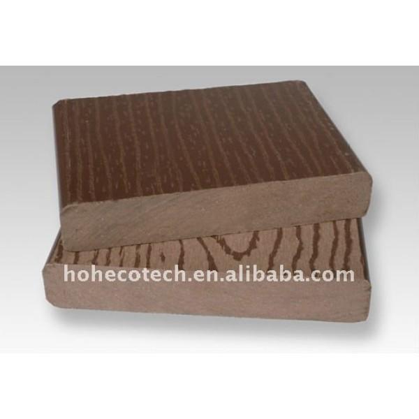 140x25mm sólido compuesto patio decking tableros
