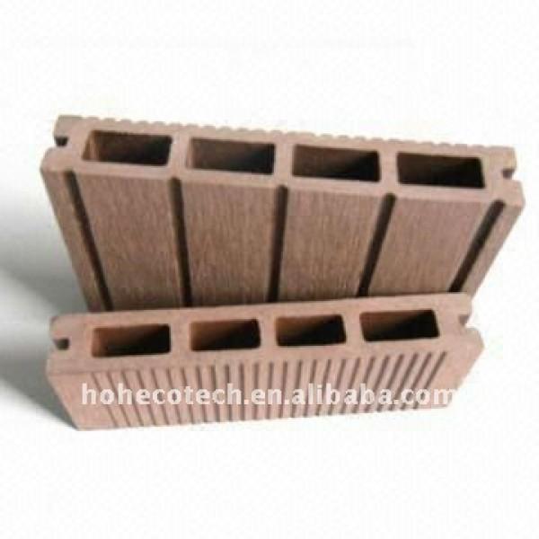 Decking composé en plastique en bois extérieur de garantie de qualité de /flooring de plancher de décoration (CE, ROHS, ASTM)/decking plastique de plancher