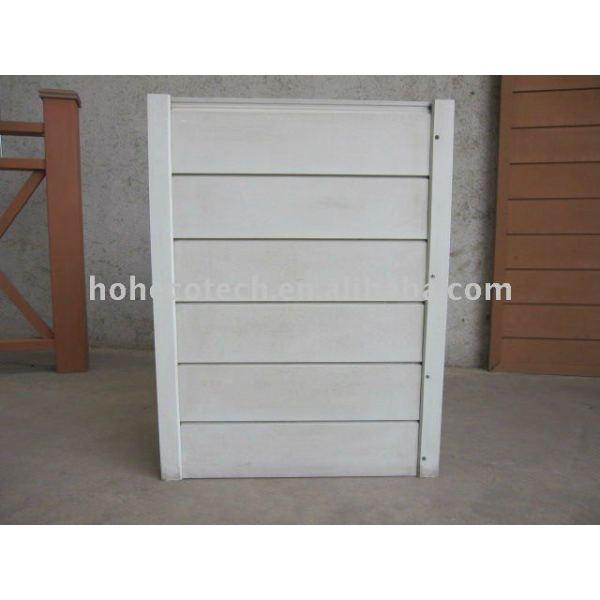 Wpc compuesto plástico de madera del panel de la pared/revestimiento - blanco